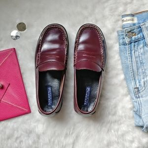 Sperry ▪ Maroon Leather Penny Loafers